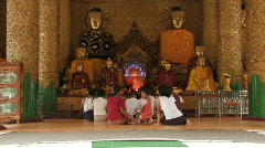 Myanmar: People pray at a Pogoda Stock Footage