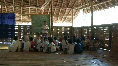 Karen Refugees: Bamboo School Stock Footage