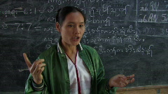 Karen Refugees: Teacher at front of class Stock Footage