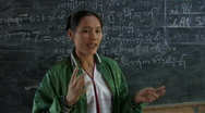 Stock Video of Karen Refugees: Teacher at front of class Stock Footage