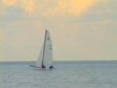 Boat on Lake Michigan Stock Footage