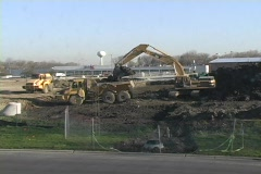 Excavating time lapse x9000 Stock Footage