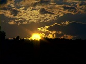 Sunset horizon clouds time lapse Stock Footage