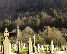 Glendalough Church Stock Footage