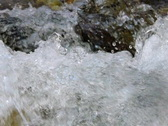 High Speed Camera : River water flow slow motion Loop Stock Footage
