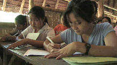 Karen Refugees: Taking notes in class Stock Footage