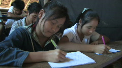 Karen Refugees: Students take notes from blackboard. Stock Footage