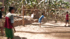 Karen Refugees: Boys at play - stock footage