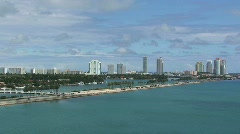 Car Traffic in on Miami Florida Highway with Buildings Stock Footage
