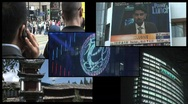 Stock Video Footage of Asia Economy split screen