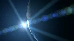 Earth blue sunrise, HD720 Stock Footage