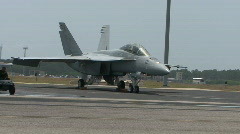 F-18 Hornet - Airfest March 2009 Stock Footage