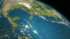 Earth Region 382 - Gulf of Mexico - stock footage