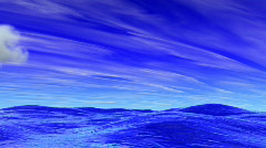 Ocean and Flying Clouds - Motion Graphic 42B (HD) Stock Footage