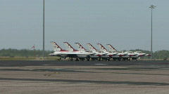 USAF Thunderbirds Squadron Stock Footage