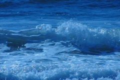 Stock Video Footage of High Speed Camera : Ocean Waves 16 Waves crashing on beach  in slow motion Loop