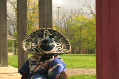 SOMBRERO DOLLY FRONT VIEW Stock Footage