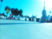 Venice Beach walking crowd dolly shot in slow motion 1 Stock Footage