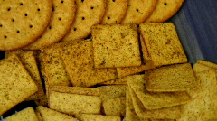 Crackers Stock Footage