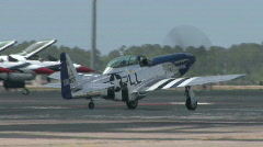 P-51 Mustang - WWII Era American Fighter Stock Footage
