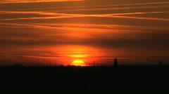 Sunset friesland Stock Footage