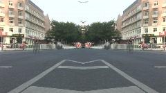 Timelapse traffic mirror image - stock footage