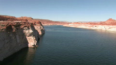 Lake Powell from Glen canyon Dam P HD Stock Footage