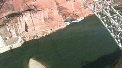 Glen Canyon Bridge tilt up P HD Stock Footage