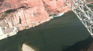Stock Video Footage of Glen Canyon Bridge tilt up P HD