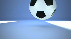 Football bounce on the ground Stock Footage