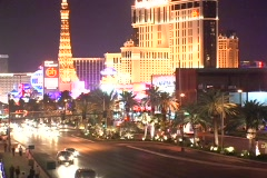 Vegas-South Strip looking North - stock footage
