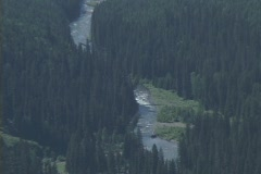 Glacier Valley zoom out Stock Footage