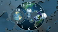 Stock Video Footage of World time background