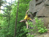 Rock Climber Repelling Cliff Stock Footage