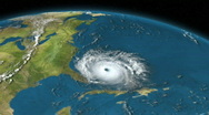 Stock Video Footage of Earth 384 - Atlantic Hurricane