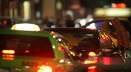 Cars at intersection Stock Footage