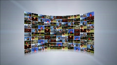 Video Wall - stock footage