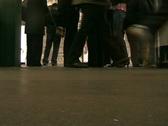 London Passengers Boarding Underground Train. Stock Footage