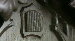 Cuckoo clock beating 11 o'clock Stock Footage