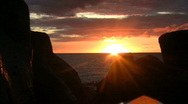 Maui sunset with rocks time lapse Stock Footage