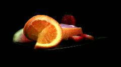 Fruit - shortcake and yogurt 2 - fast rotate Stock Footage