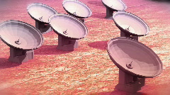 Radar dishes nice Stock Footage