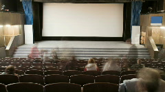 Cinema auditorium with people - stock footage