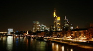 HD1080p Frankfurt City at Night (Time Lapse) Stock Footage