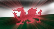 Flag FX - Wales - HD24p Stock Footage