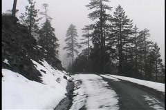 Snow Covered Road 01 Stock Footage