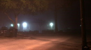 Stock Video Footage of Foggy Night Parking Lot