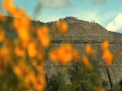 Sun Pyramid at Teotihuacán 04 Stock Footage