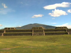 Teotihuacán Temple 07 Stock Footage