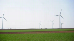 HD720p Many wind wheel turbine Stock Footage